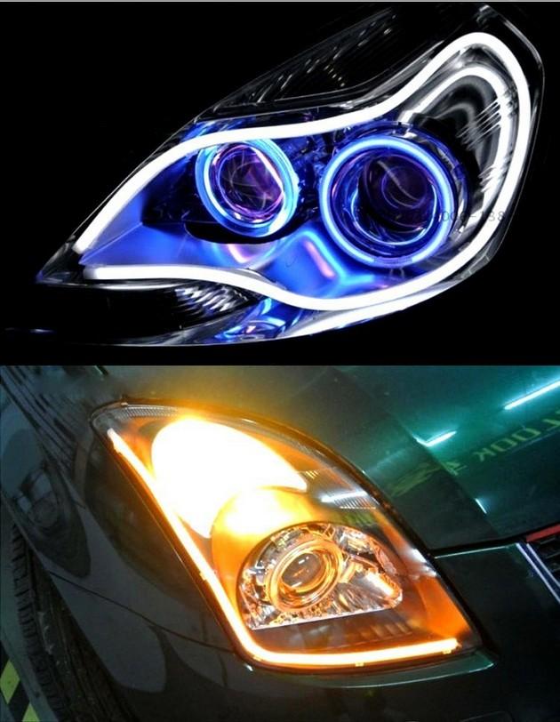 Elastyczne światła jazdy dziennej led flex drl dual kolor